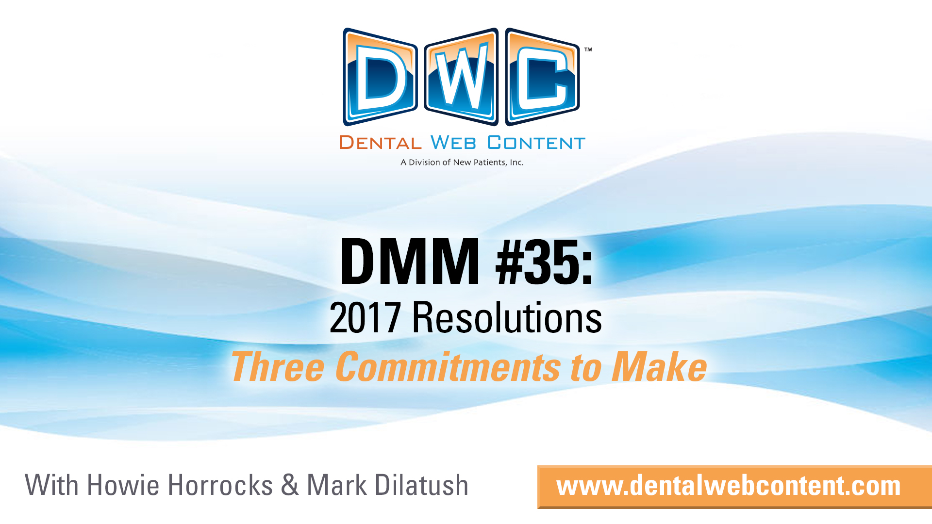 2017 Resolutions - Three Commitments to Make