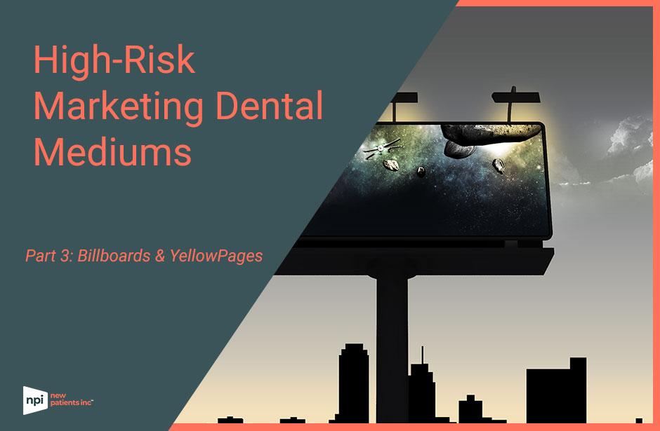 High risk marketing medium billboards yellowpages